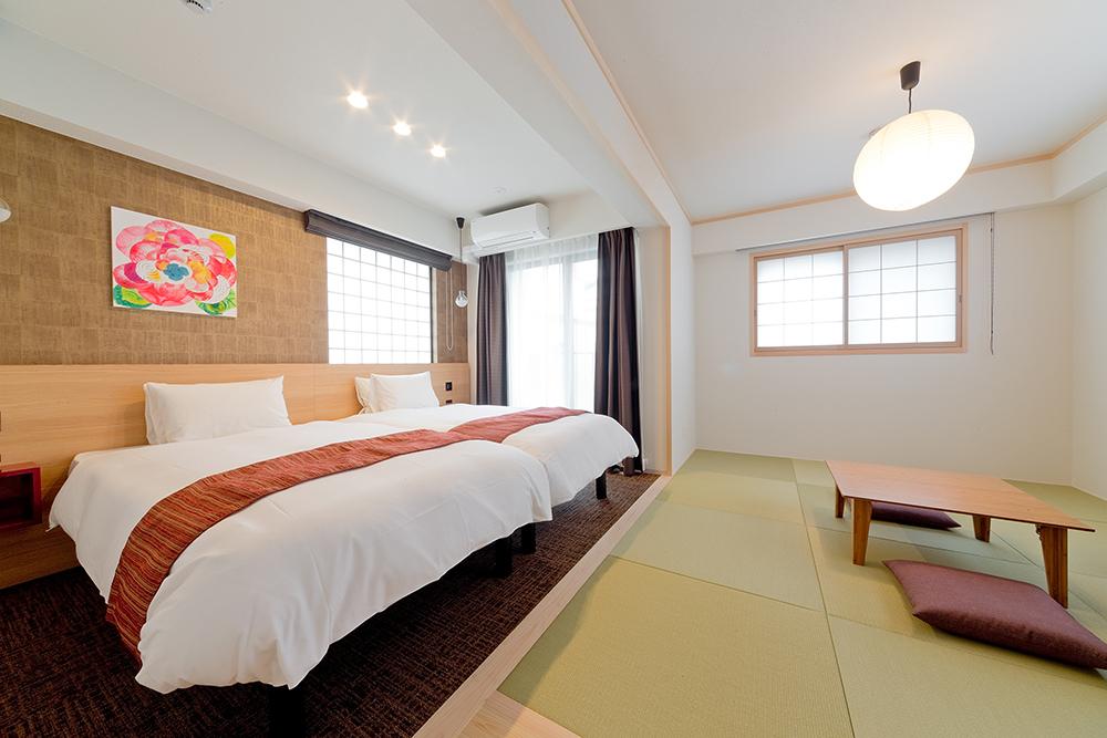 サータ社製ベッドを全室に導入