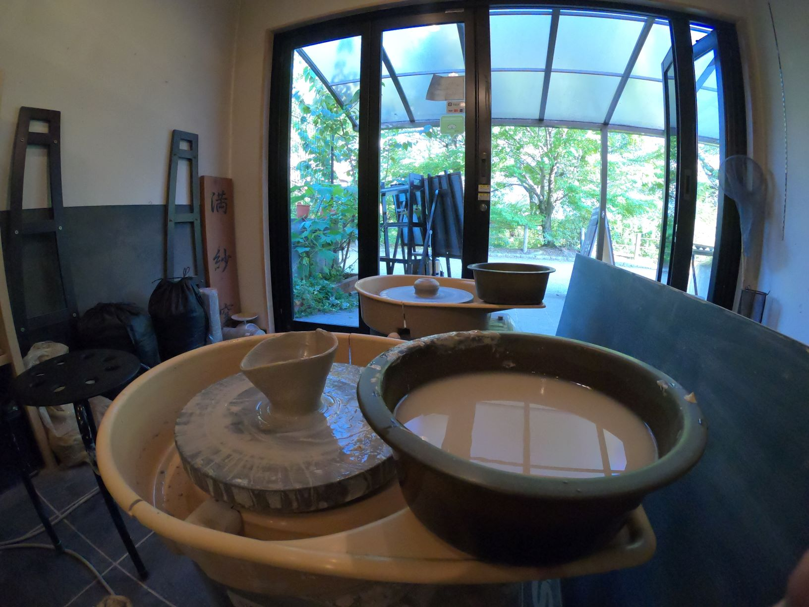 Experience pottery at the famous spot