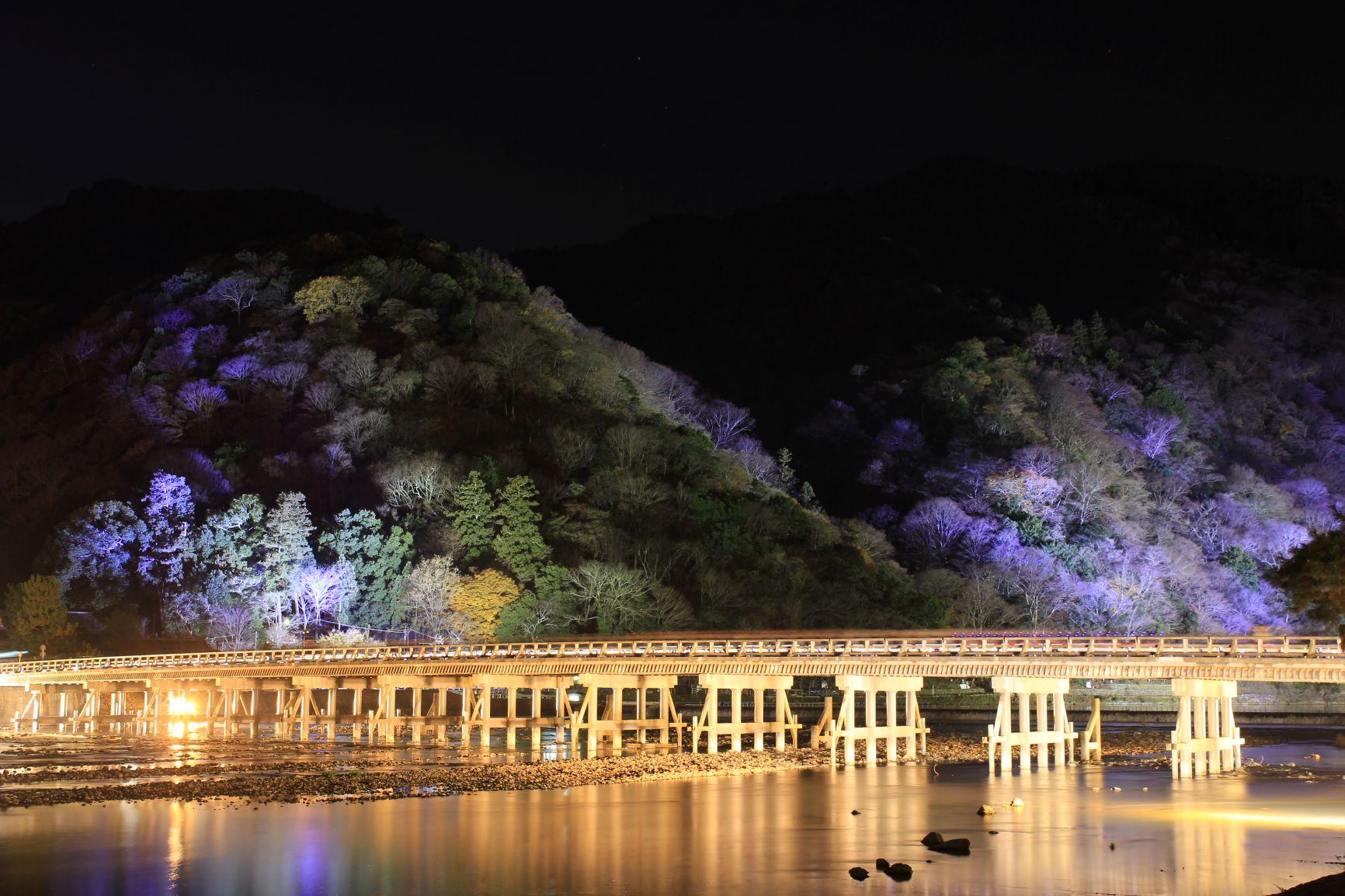 不能错过的京都岚山的红叶夜景